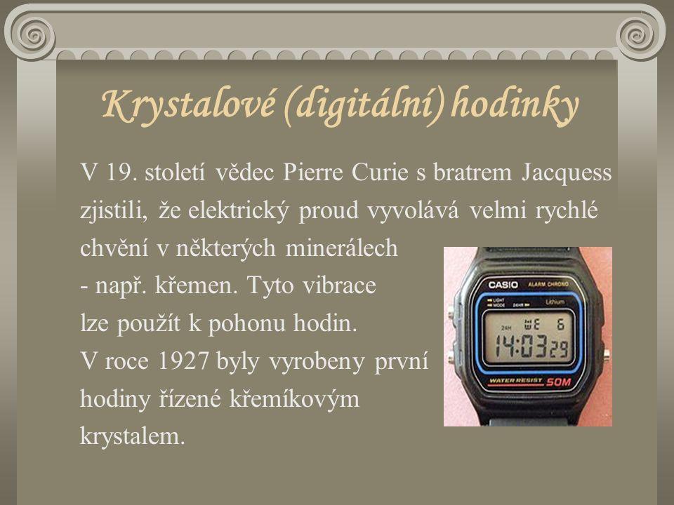 Krystalové (digitální) hodinky V 19.