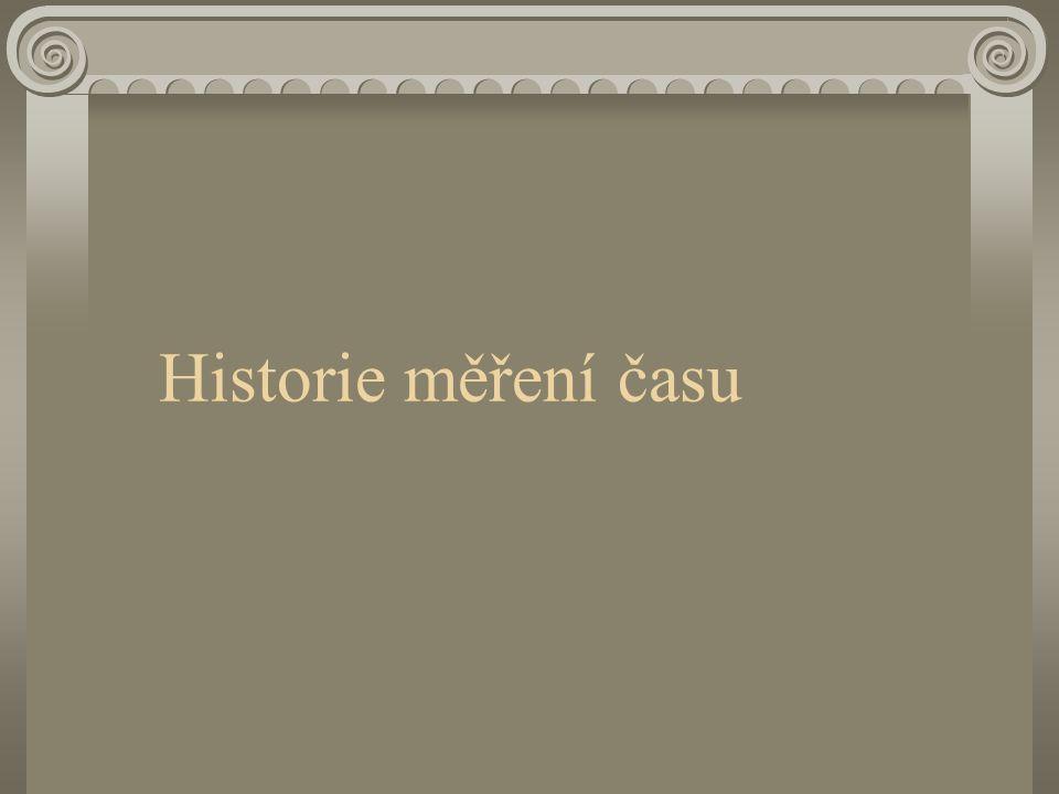 Historie měření času