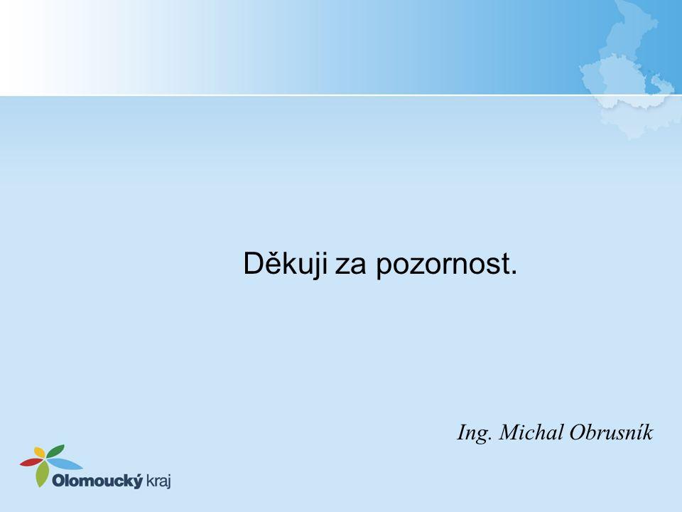 Děkuji za pozornost. Ing. Michal Obrusník