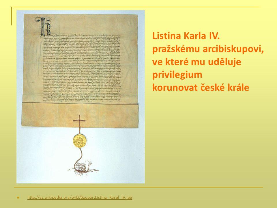 http://cs.wikipedia.org/wiki/Soubor:Listina_Karel_IV.jpg Listina Karla IV.