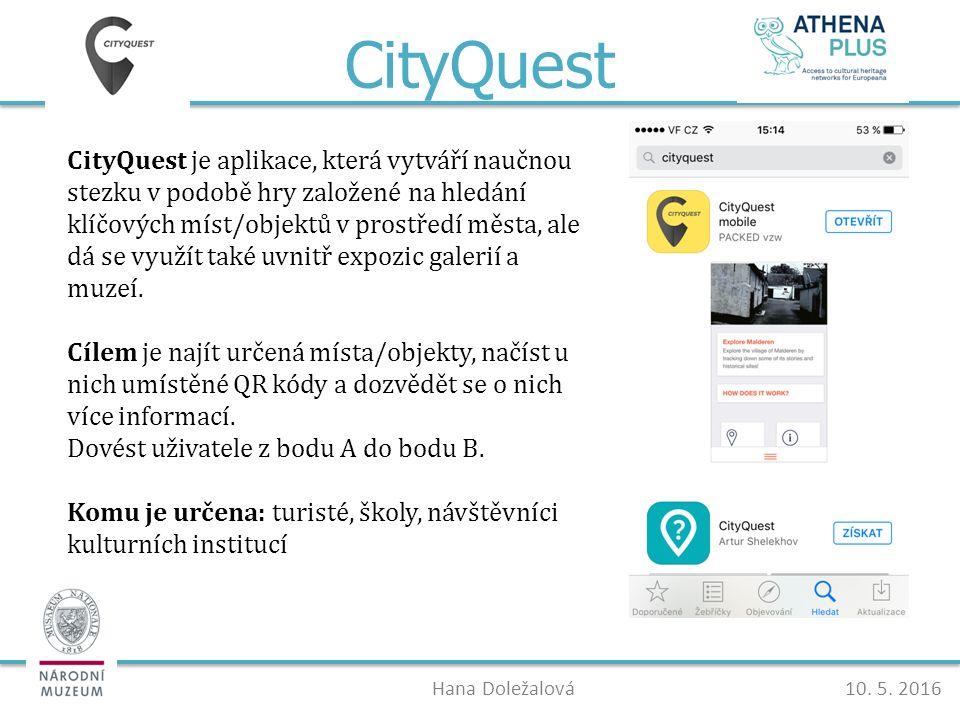 CityQuest Hana Doležalová10. 5.