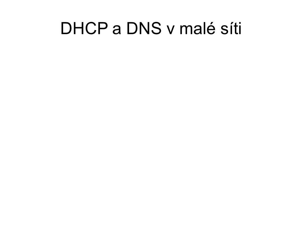 DHCP a DNS v malé síti