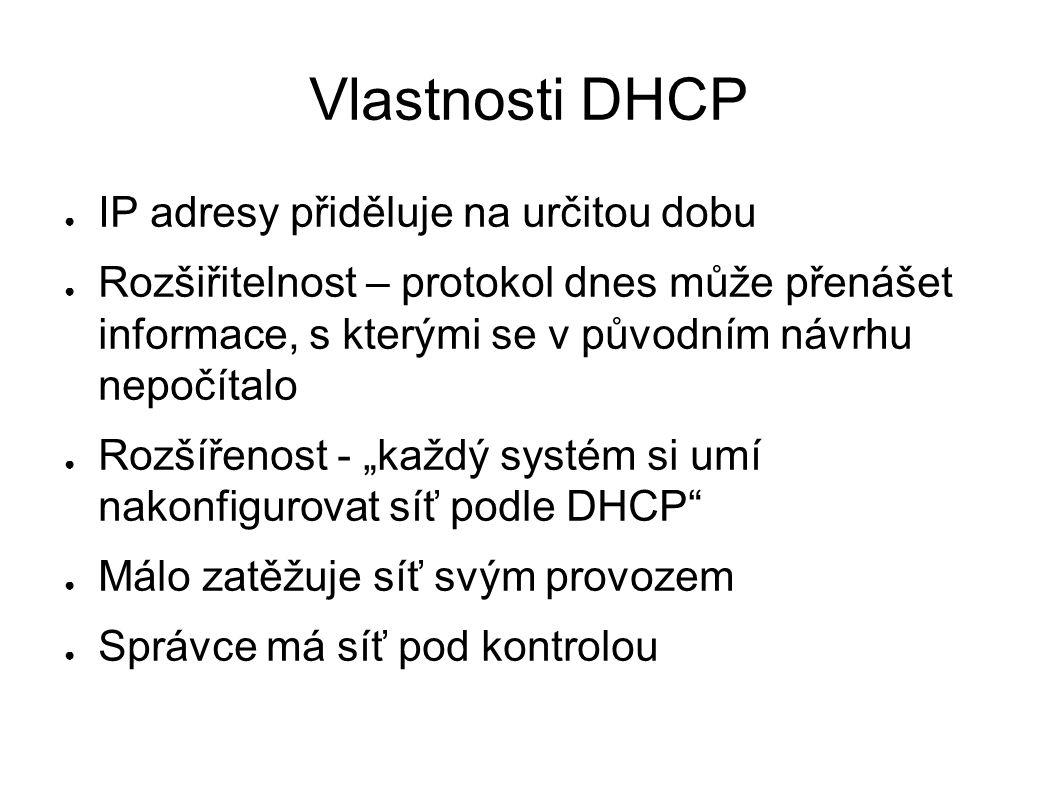 Kdy se vyplatí nasadit doma DNS server ● připojení s dlouhými odezvami ● častá přetížení jmenných serverů ISP ● možnost adresovat počítače s adresami přidělenými DHCP serverem