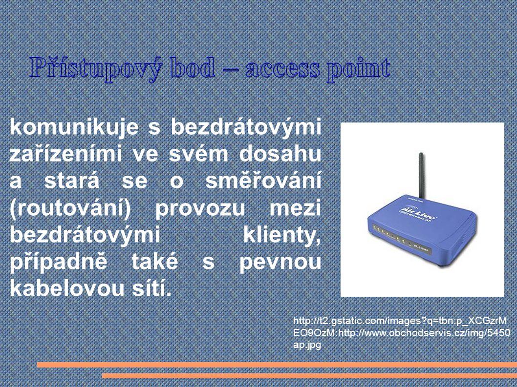 komunikuje s bezdrátovými zařízeními ve svém dosahu a stará se o směřování (routování) provozu mezi bezdrátovými klienty, případně také s pevnou kabelovou sítí.