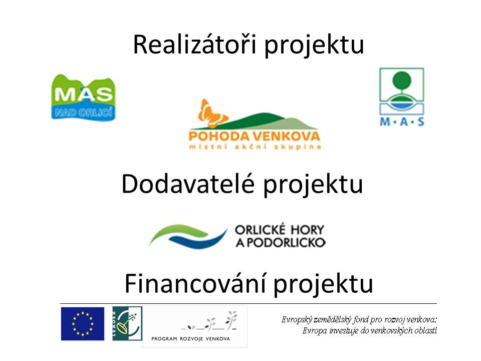 Dodavatelé projektu Realizátoři projektu Financování projektu