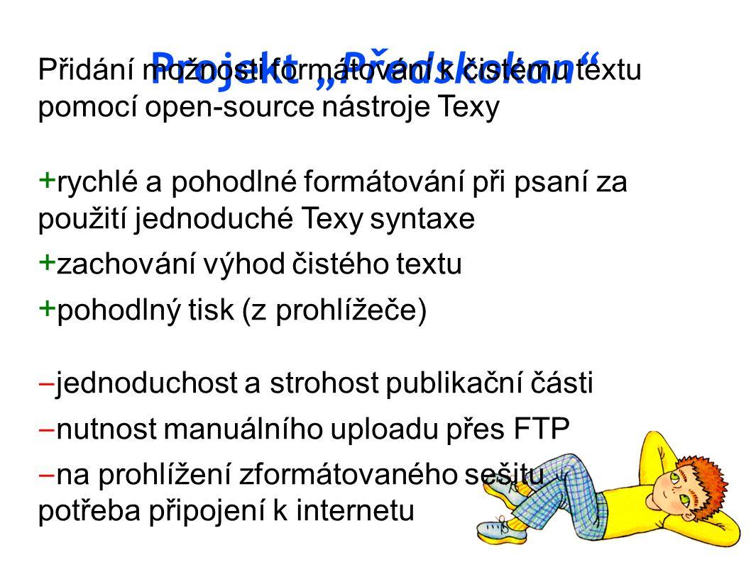 "Projekt ""Předskokan"