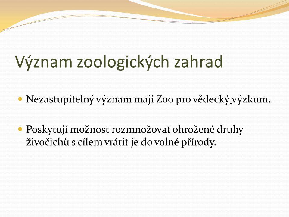 Zoo Praha Stát- Česko Město- Praha Zakladatel- Jiří Janda Datum založení- 28.
