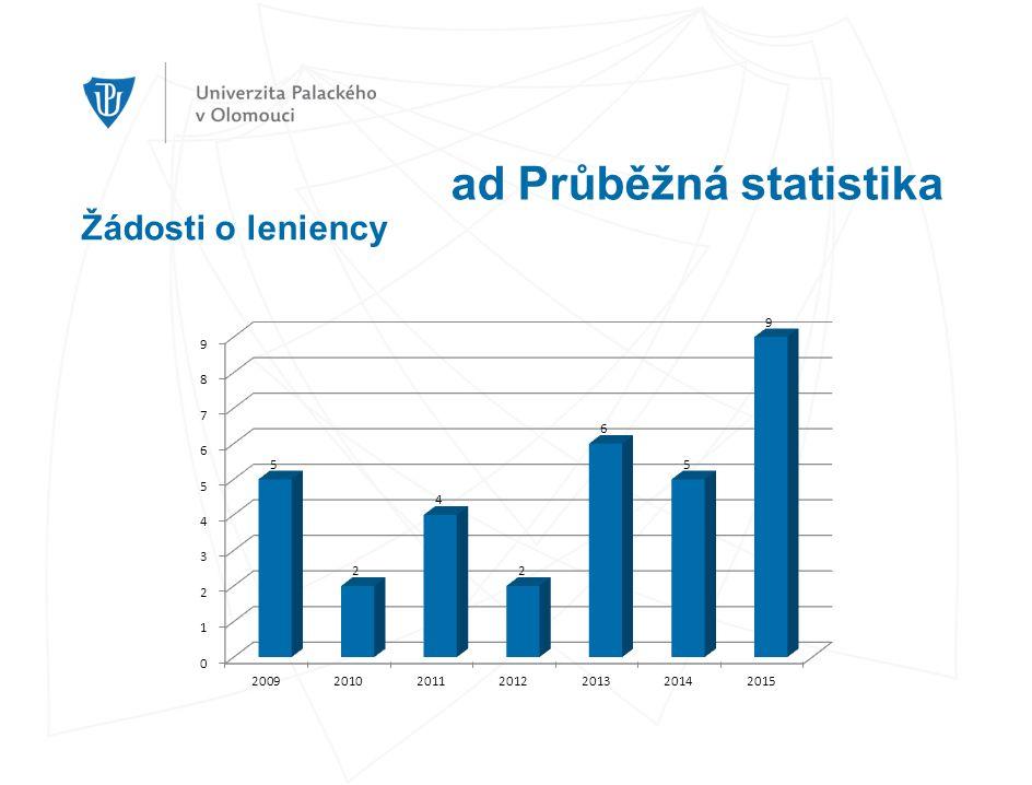 ad Průběžná statistika Žádosti o leniency