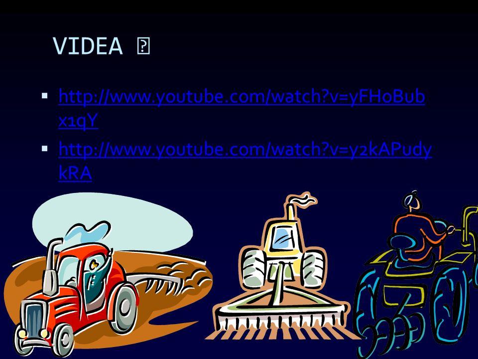 VIDEA  http://www.youtube.com/watch?v=yFHoBub x1qY http://www.youtube.com/watch?v=yFHoBub x1qY  http://www.youtube.com/watch?v=y2kAPudy kRA http://www.youtube.com/watch?v=y2kAPudy kRA