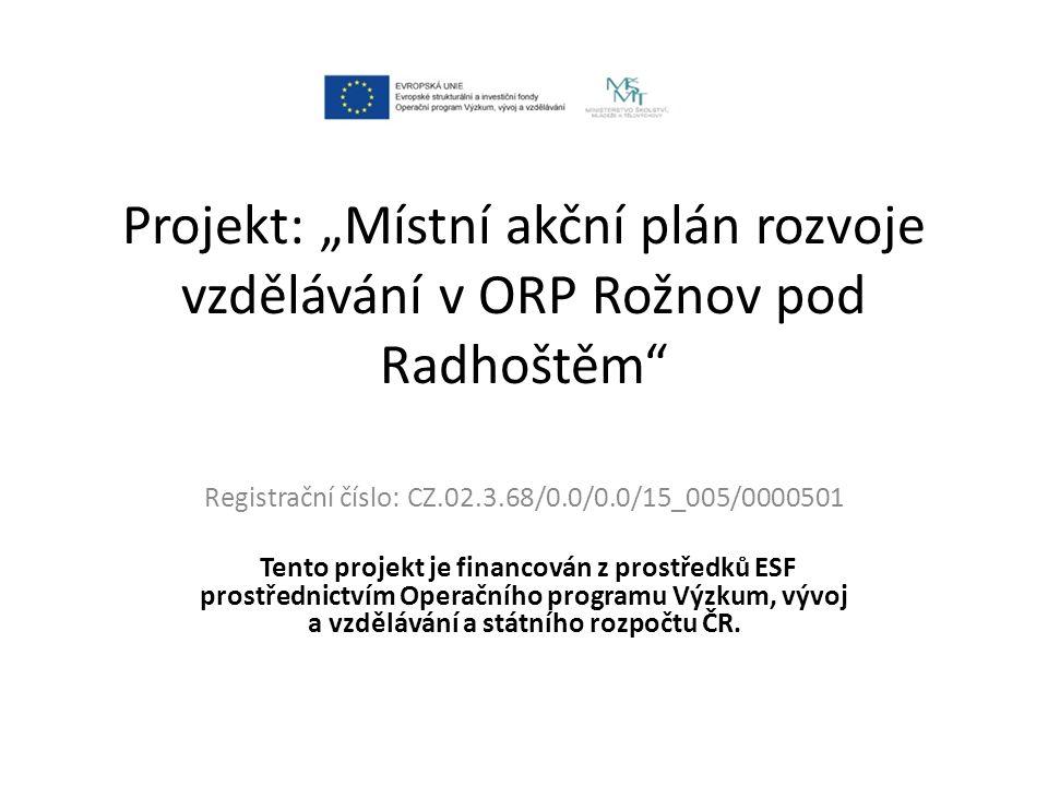 Žadatel projektu: Místní akční skupina Rožnovsko, z.s.