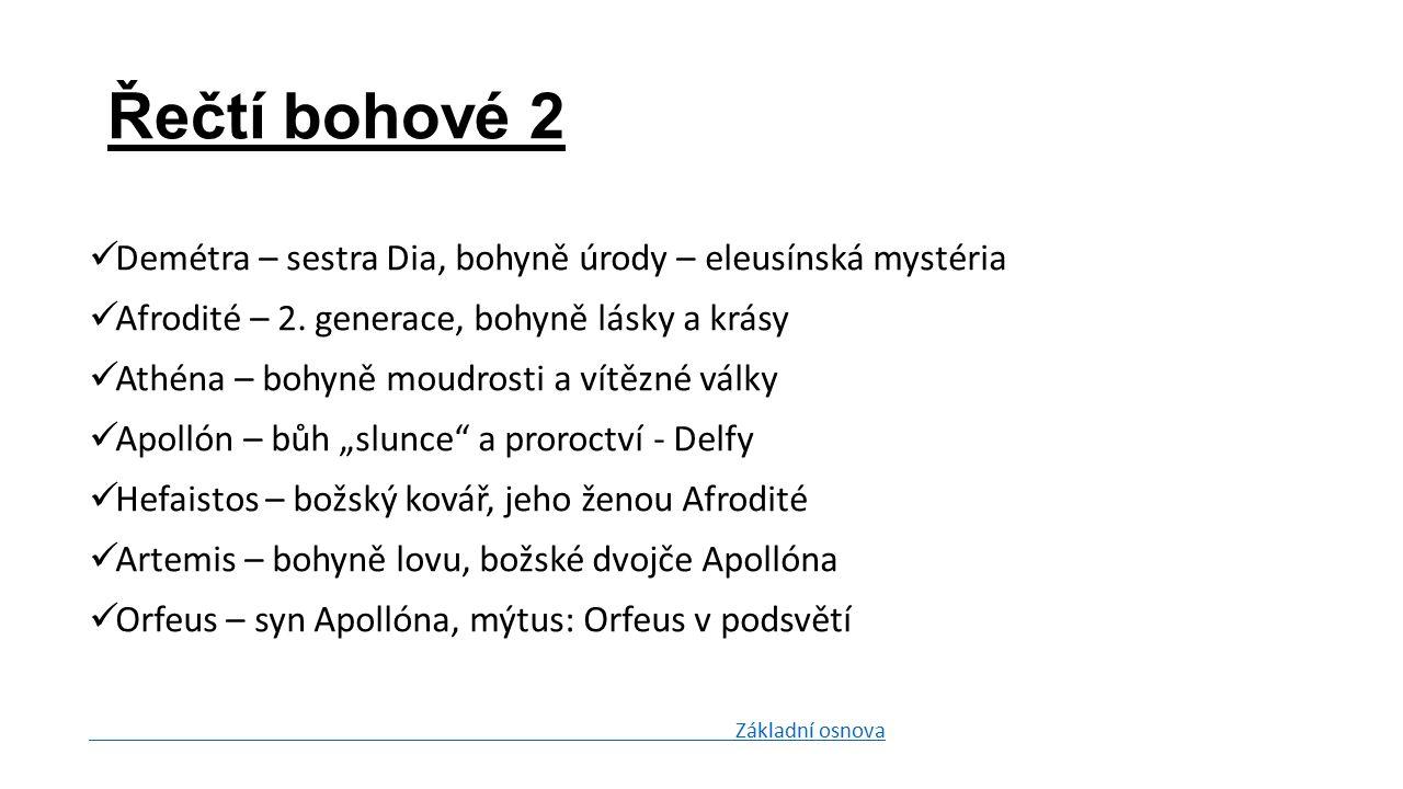 Demétra – sestra Dia, bohyně úrody – eleusínská mystéria Afrodité – 2.