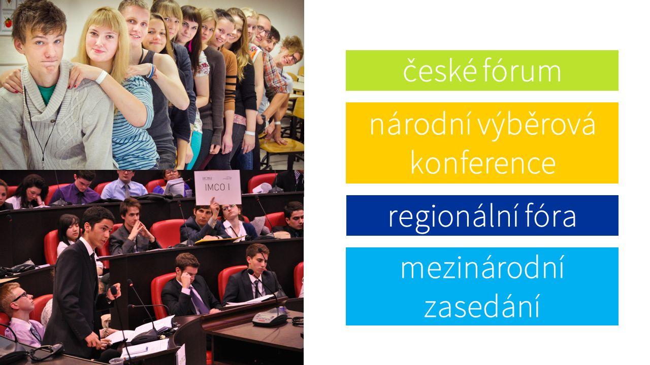 české fórum národní výběrová konference regionální fóra mezinárodní zasedání