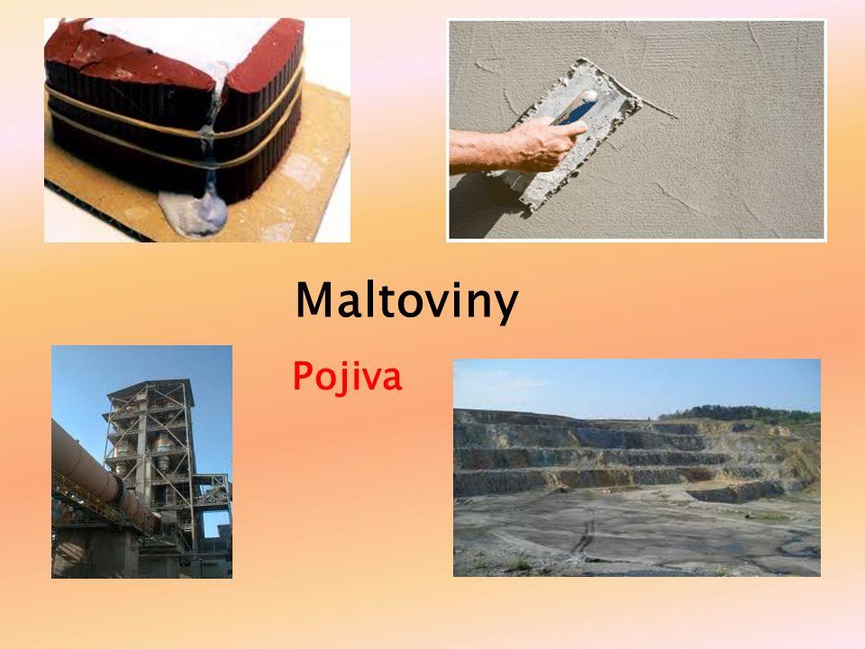 Definice pojiva Prášková pojiva anorg.původu, která se vyrábí výpalem z hornin.