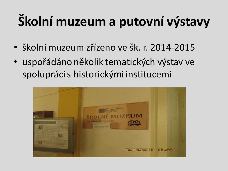Školní muzeum a putovní výstavy školní muzeum zřízeno ve šk.