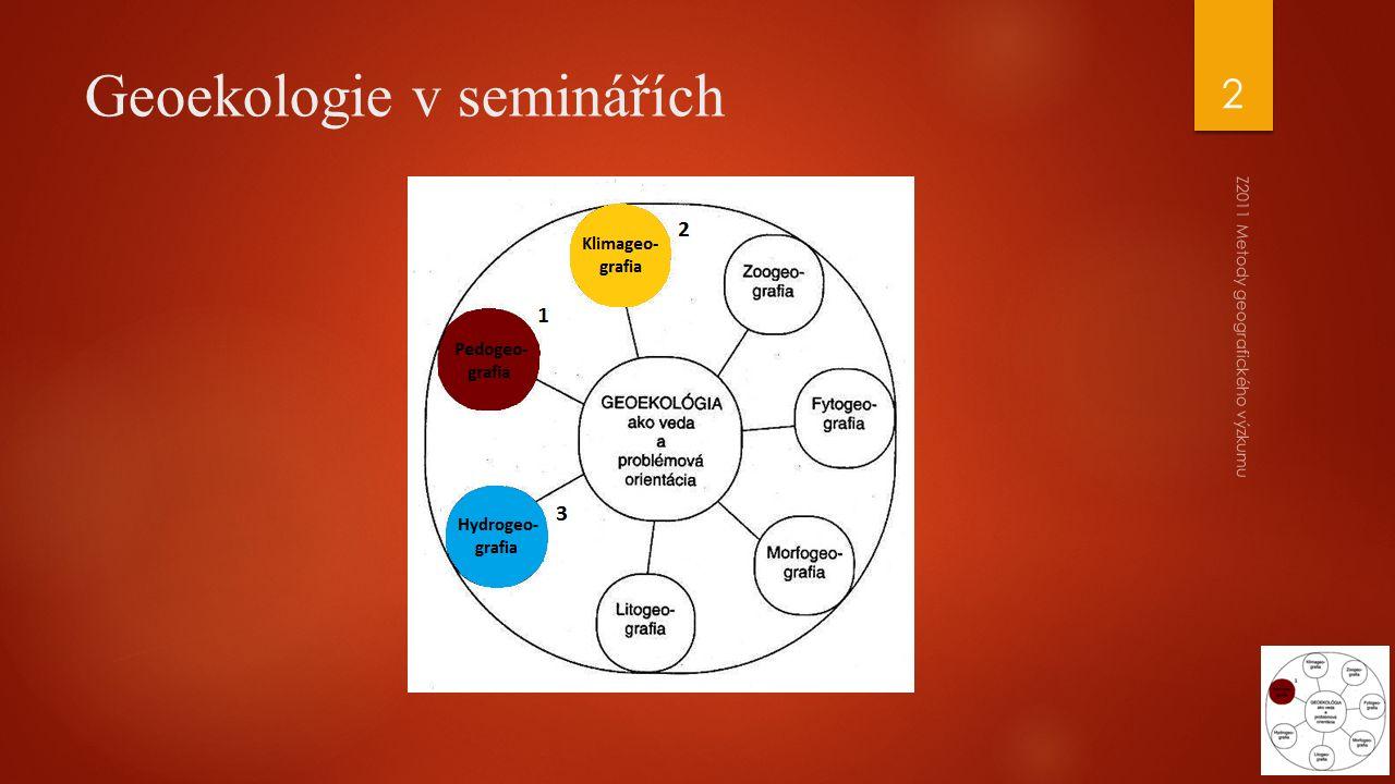 Geoekologie v seminářích Z2011 Metody geografického výzkumu 2