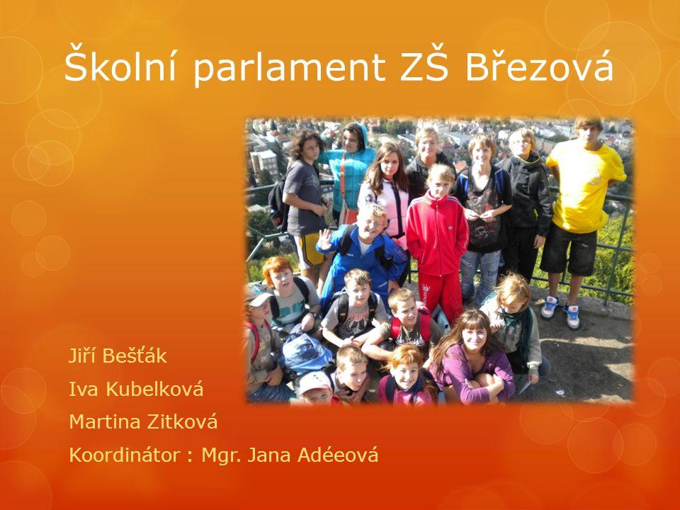 Školní parlament ZŠ Březová Jiří Bešťák Iva Kubelková Martina Zitková Koordinátor : Mgr.