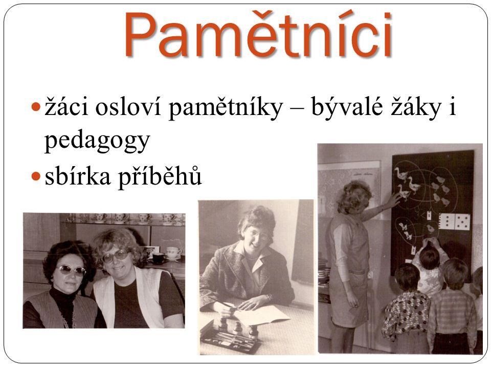 Pamětníci žáci osloví pamětníky – bývalé žáky i pedagogy sbírka příběhů