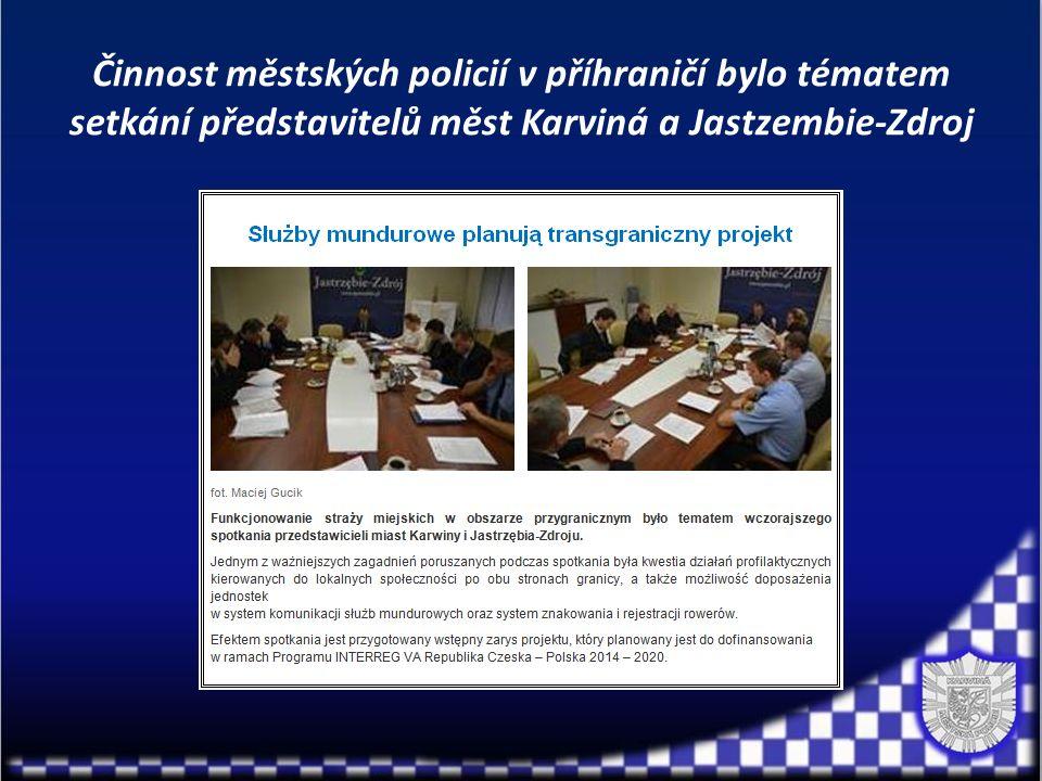 Činnost městských policií v příhraničí bylo tématem setkání představitelů měst Karviná a Jastzembie-Zdroj