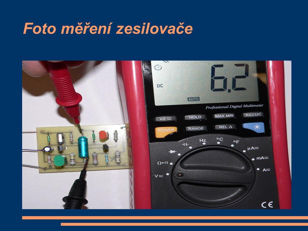 Foto měření zesilovače