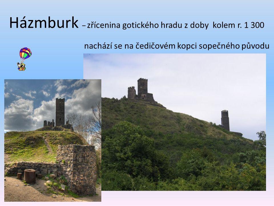 Házmburk – zřícenina gotického hradu z doby kolem r.