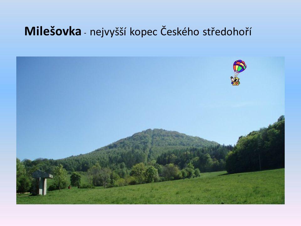 Milešovka - nejvyšší kopec Českého středohoří