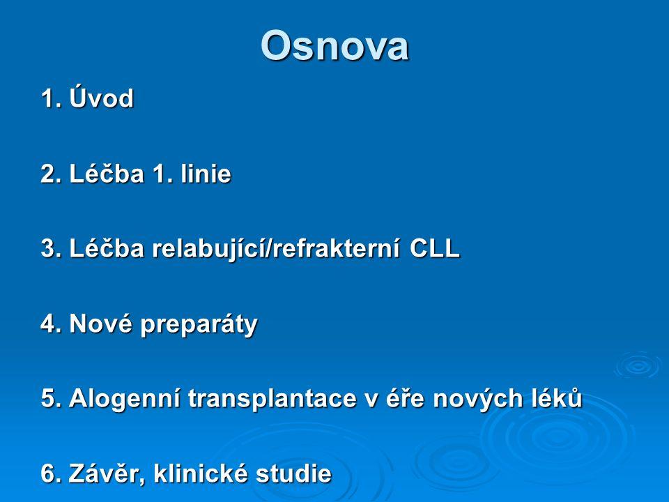 Osnova 1. Úvod 2. Léčba 1. linie 3. Léčba relabující/refrakterní CLL 4.