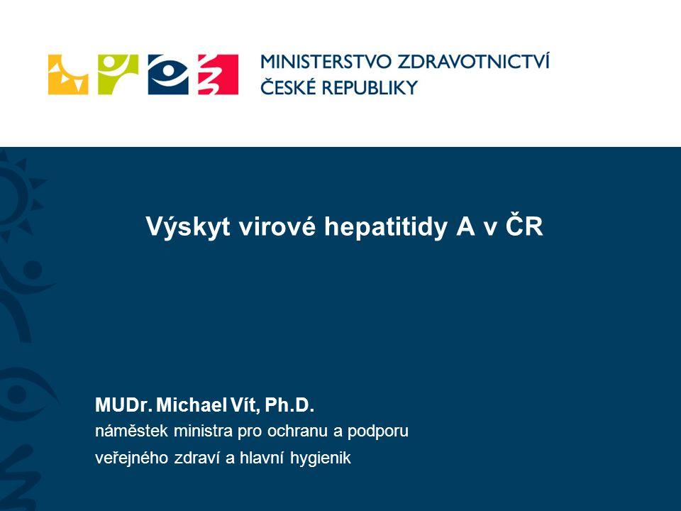 Výskyt virové hepatitidy A v ČR MUDr. Michael Vít, Ph.D.