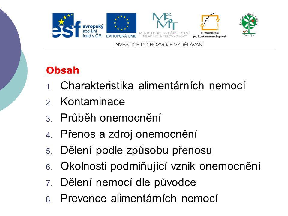 Slide 1 Modul 1 Hygiena živočišných produktů Alimentární nemoci