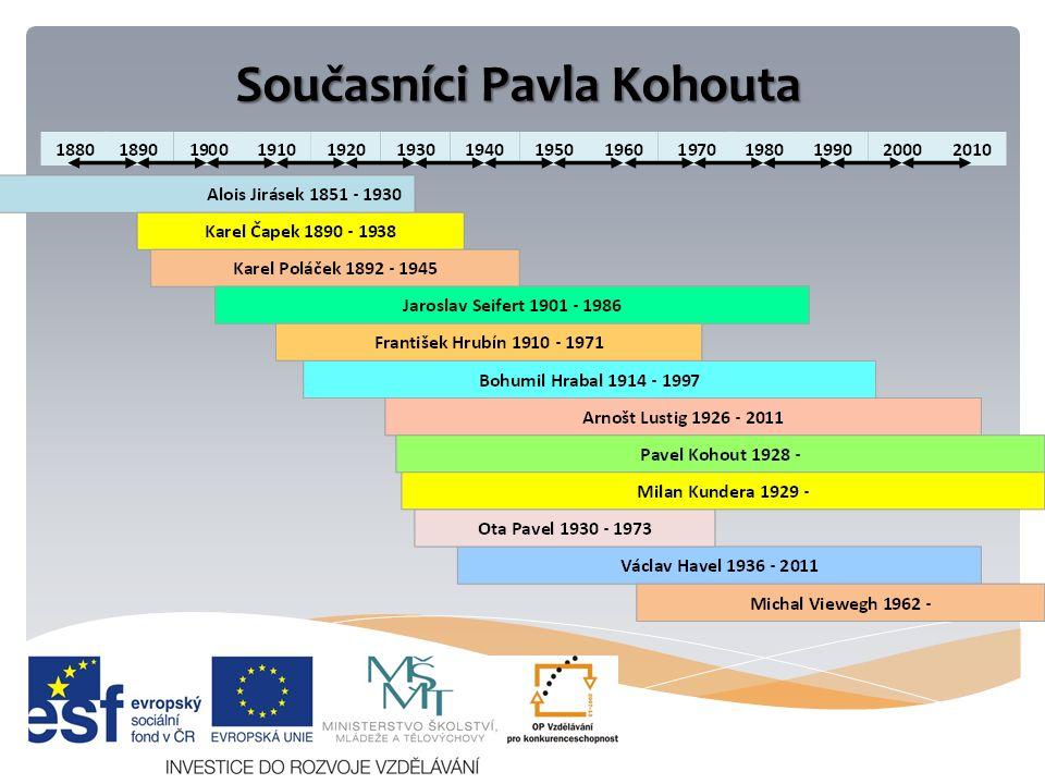 Současníci Pavla Kohouta
