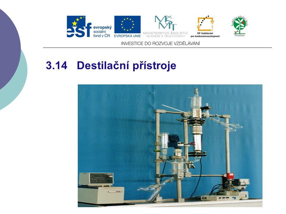 3.14 Destilační přístroje