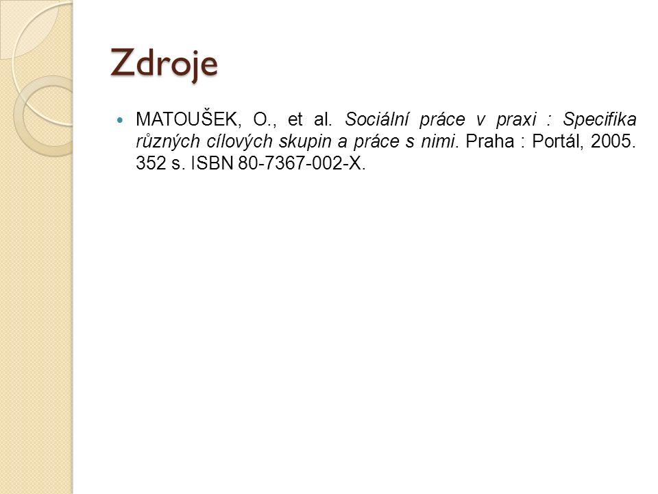 Zdroje MATOUŠEK, O., et al.