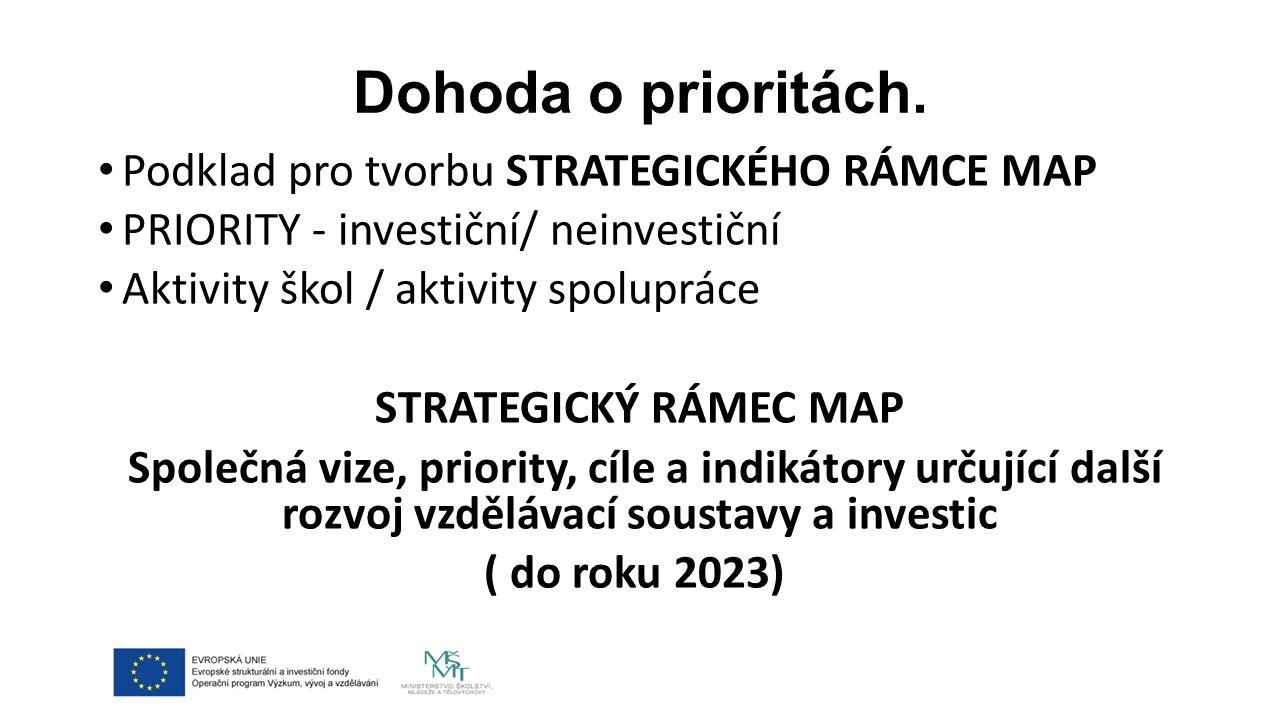 Co nás čeká.Připomínkování Strategického rámce – forma, místo, termín.