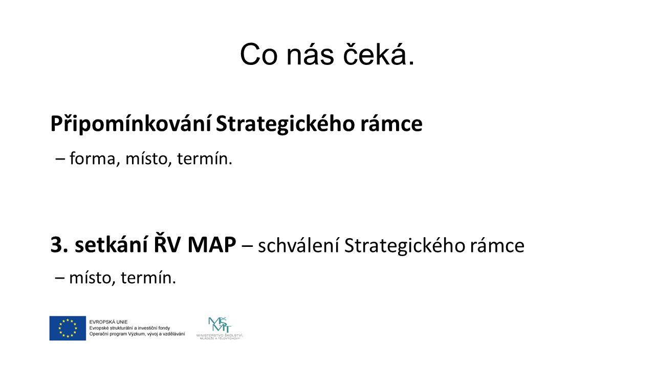 Co nás čeká. Připomínkování Strategického rámce – forma, místo, termín.