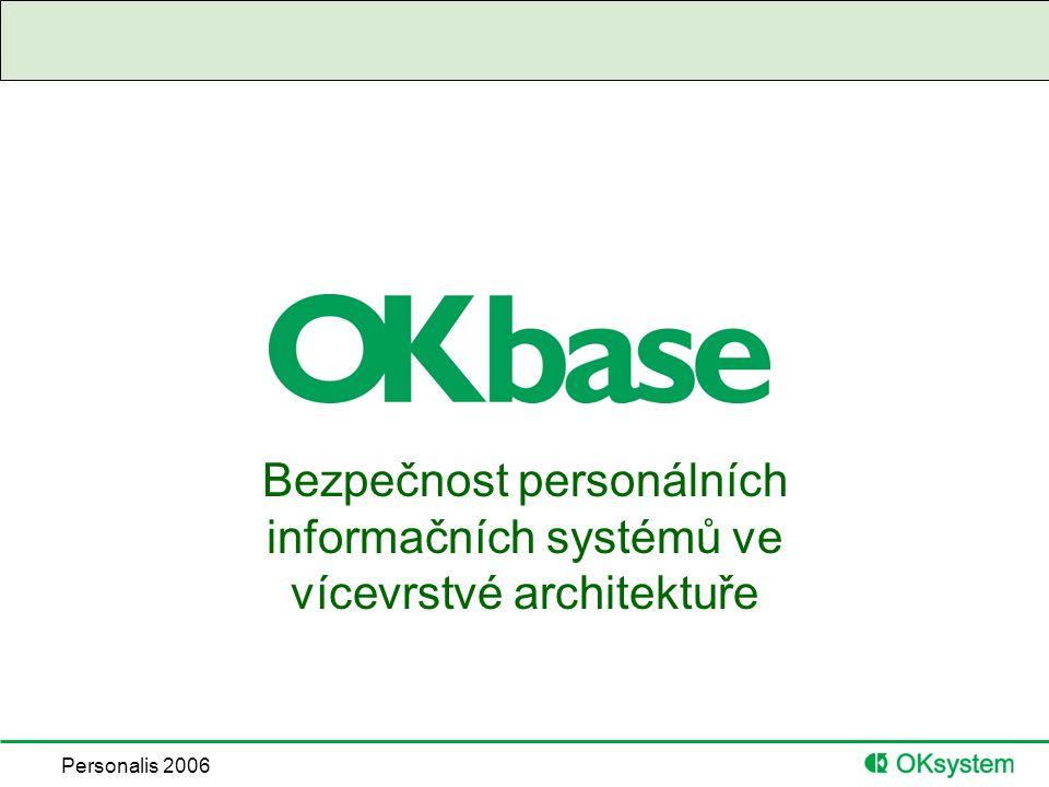 Personalis 2006 Bezpečnost personálních informačních systémů ve vícevrstvé architektuře
