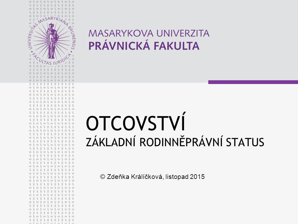 www.law.muni.cz ŘÍZENÍ O POPŘENÍ 1.DOMNĚNKY § 417 a násl.