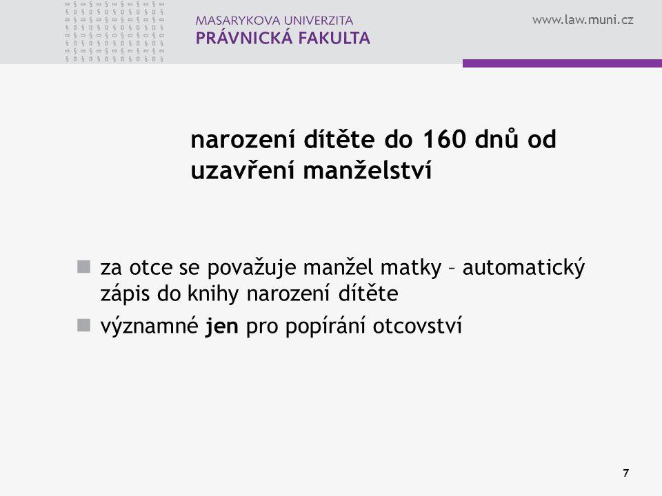 www.law.muni.cz ŘÍZENÍ O URČENÍ OTCOVSTVÍ DLE 2.