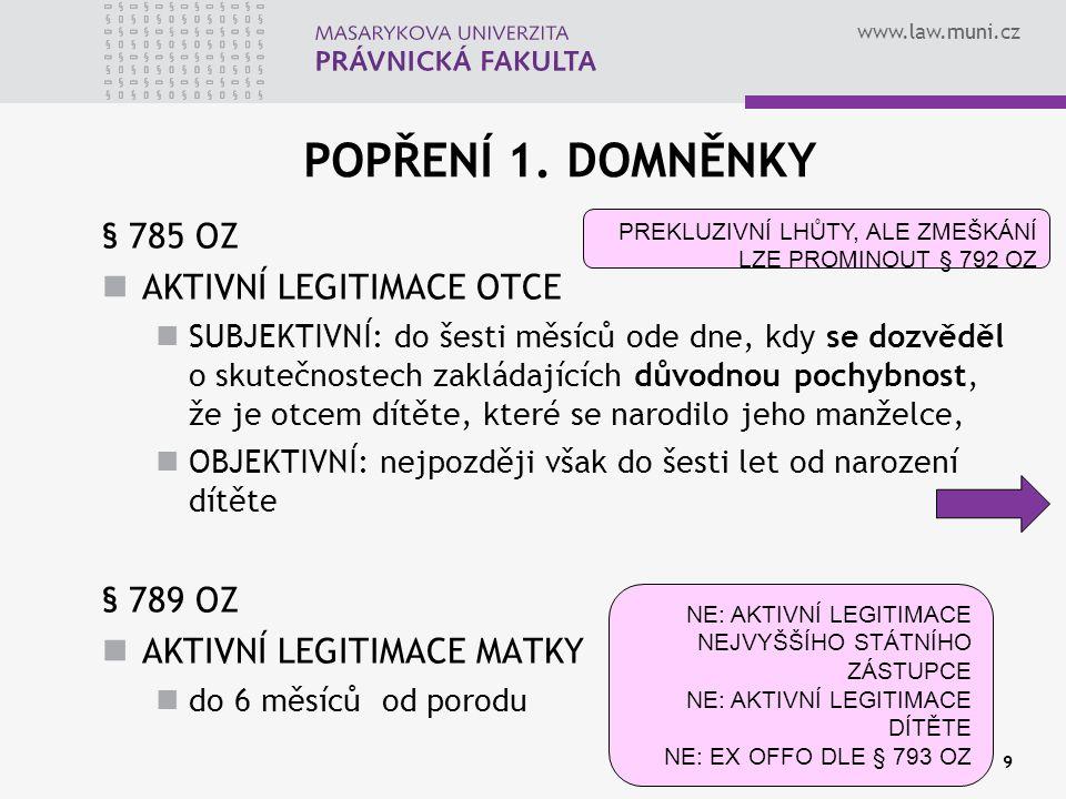 www.law.muni.cz zahájení řízení ex offo § 793 OZ (jen u 2.