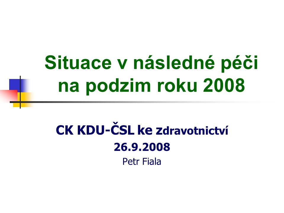 Situace v následné péči na podzim roku 2008 CK KDU-ČSL ke z dravotnictví 26.9.2008 Petr Fiala