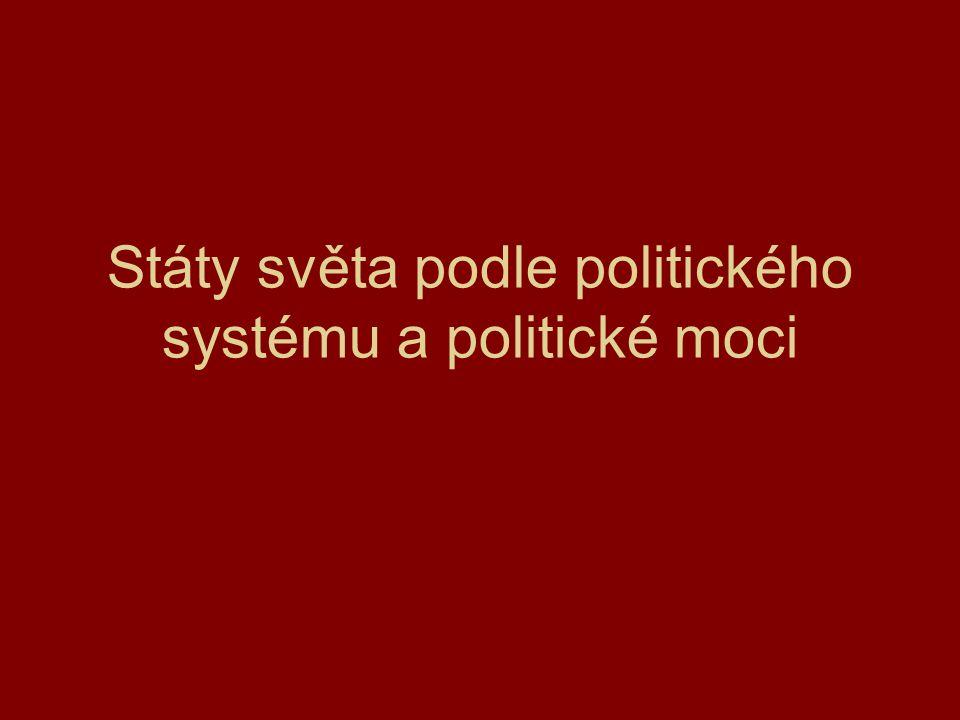 Státy světa podle politického systému a politické moci