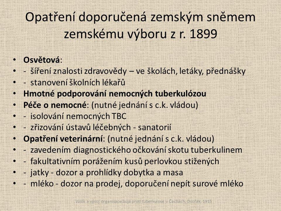 Opatření doporučená zemským sněmem zemskému výboru z r.