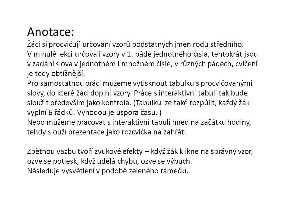 NÁZEV ŠKOLY: Základní škola Strančice, okres Praha - východ AUTOR: Mgr. Jana Dočkalová NÁZEV:VY_32_INOVACE_3.2.4.1.D 10 TÉMA: Vzory podstatných jmen r