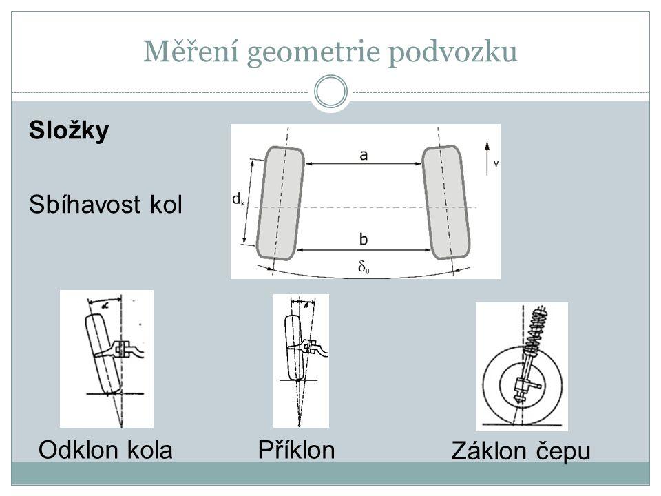 Měření geometrie podvozku Přístroje pro měření geometrie o Mechanické o optické