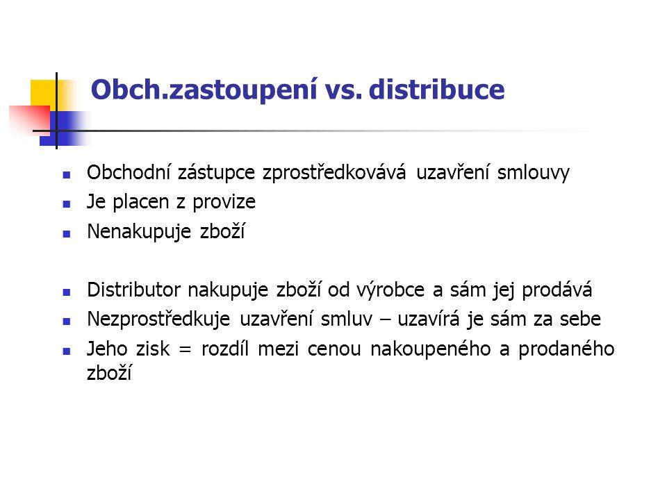 Obch.zastoupení vs.