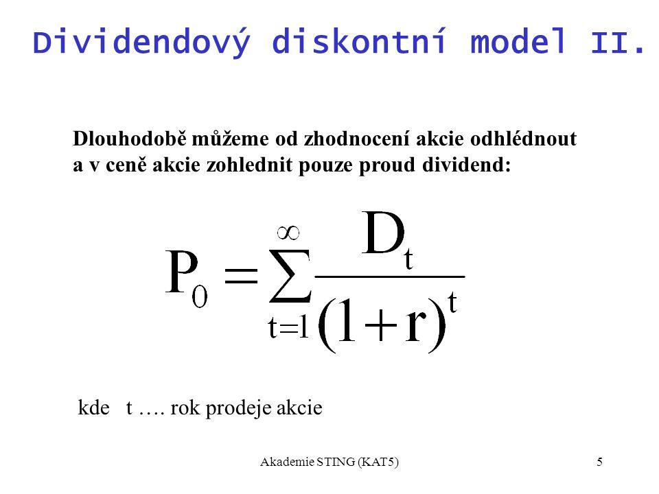 Akademie STING (KAT5)5 Dividendový diskontní model II.