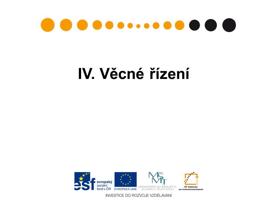 IV. Věcné řízení