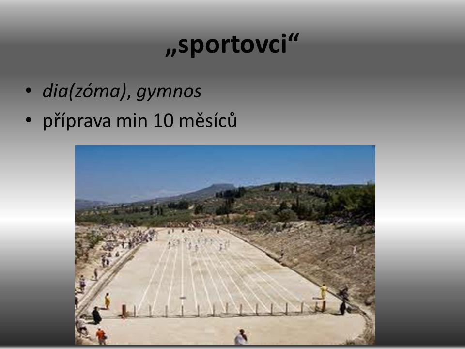 """""""sportovci"""" dia(zóma), gymnos příprava min 10 měsíců"""