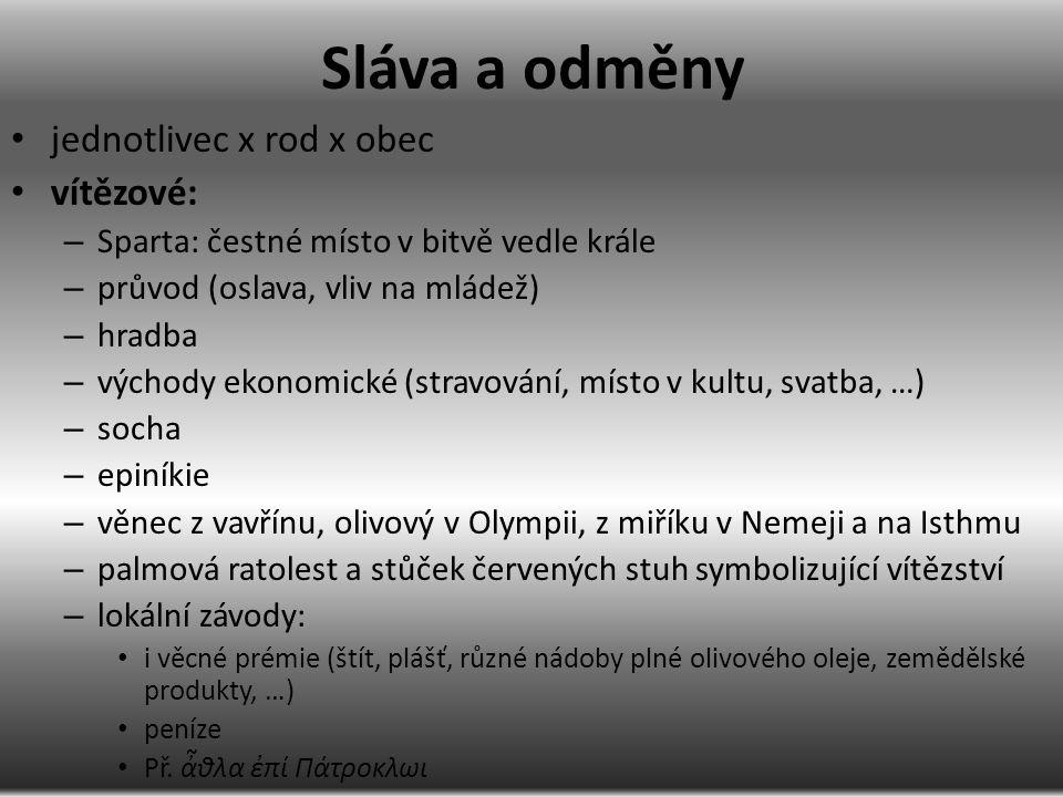 Disciplíny max.23 – 9 atletic., 7 zápasnic., 6 ἱππικόι a 1 músic.: στάδιον, δρόμος na 1.