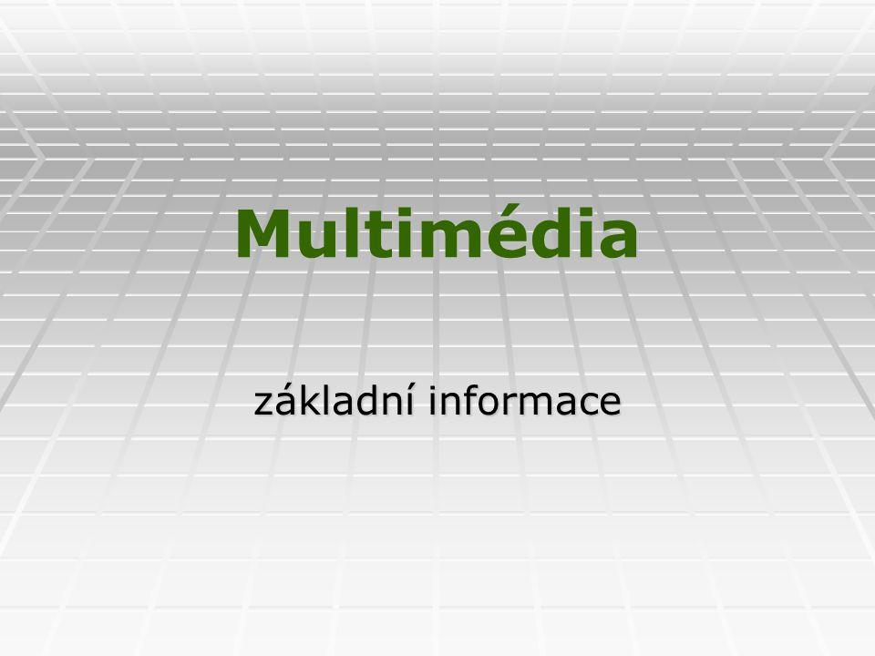 Multimédia základní informace