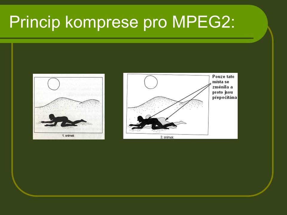 Princip komprese pro MPEG2: