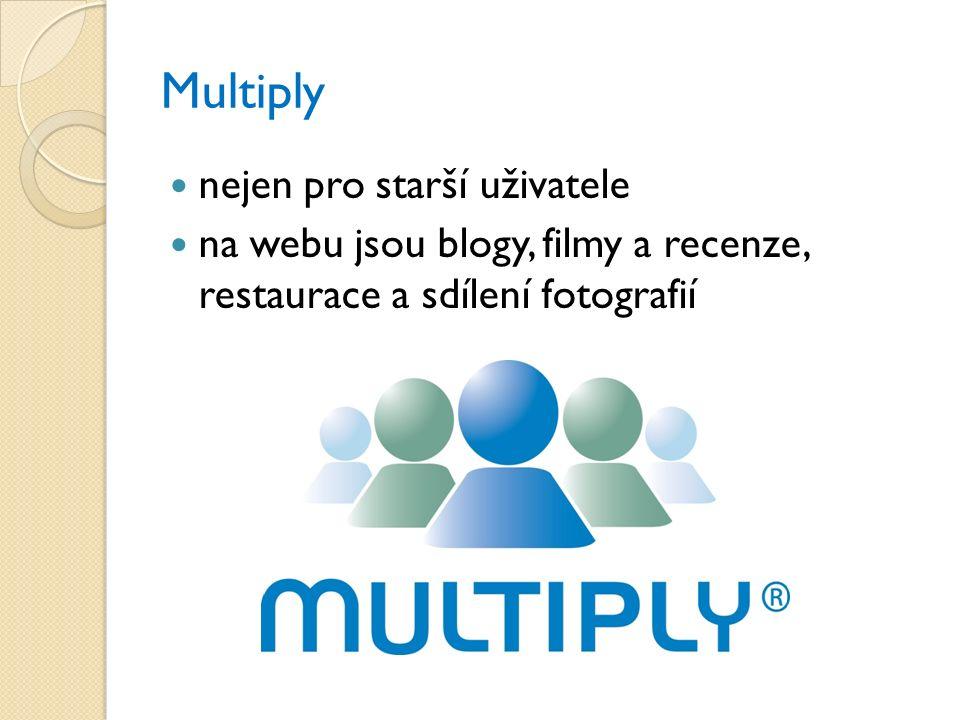 Multiply nejen pro starší uživatele na webu jsou blogy, filmy a recenze, restaurace a sdílení fotografií